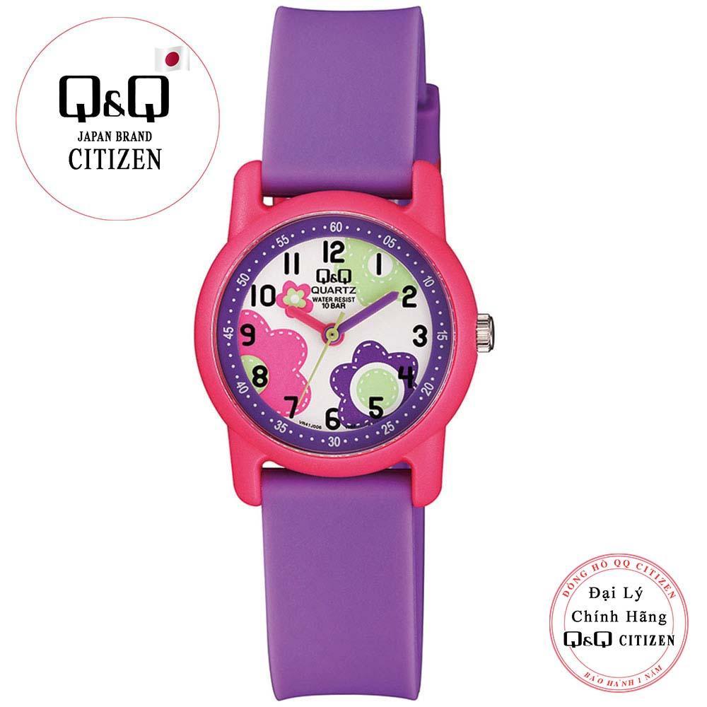 Giá bán Đồng hồ trẻ em Q&Q Citizen VR41J006Y dây nhựa thương hiệu Nhật Bản