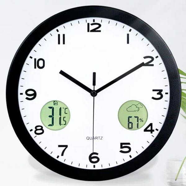 Nơi bán Đồng hồ treo tường kim loại LCD hiển thị nhiệt độ và độ ẩm Đồng hồ treo tường trang trí Tắt tiếng