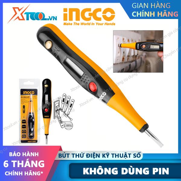 Bảng giá Bút thử điện kỹ thuật số đa năng thông minh INGCO HSDT1909 đầu dò điện áp cảm ứng kiểm tra dây pha không dùng pin [XTOOL][XSAFE]