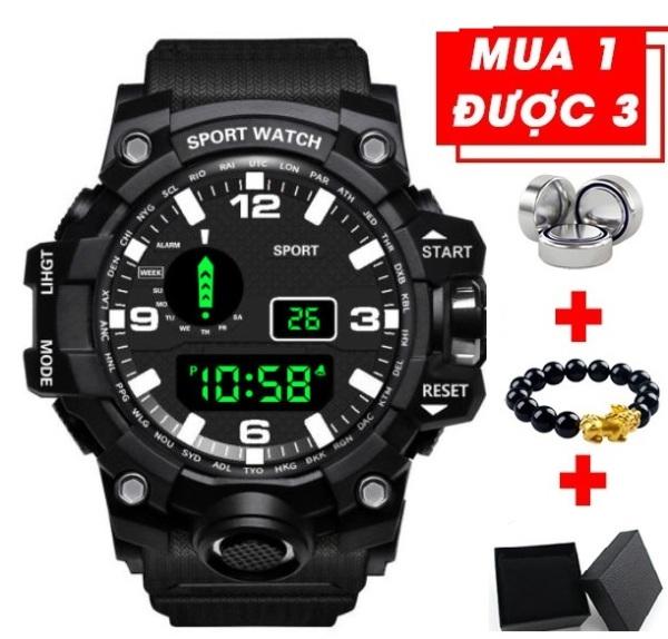 Đồng hồ điện tử nam Sport dáng thể thao chạy màn hinh điện tử đa chức năng siêu chống nước bán chạy