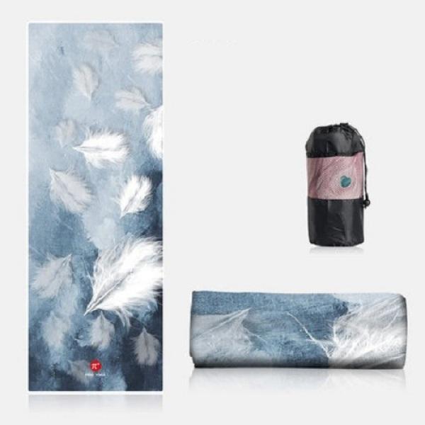 Bảng giá Khăn trải thảm Yoga 3D PIDO Cao Cấp Chống trơn trượt(NEW) - Tặng kèm túi đựng