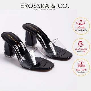 De p nư , de p cao gót Erosska quai trong kiểu dáng đơn giản thời trang thanh lịch cao 9cm EM040 (BA) thumbnail