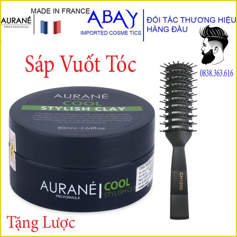 [tặng lược chaoba][CHÍNH HÃNG 100%] Sáp Vuốt Tóc Aurane cool stylish clay 80g - Nhập Pháp hàng chuẩn công ty giá rẻ