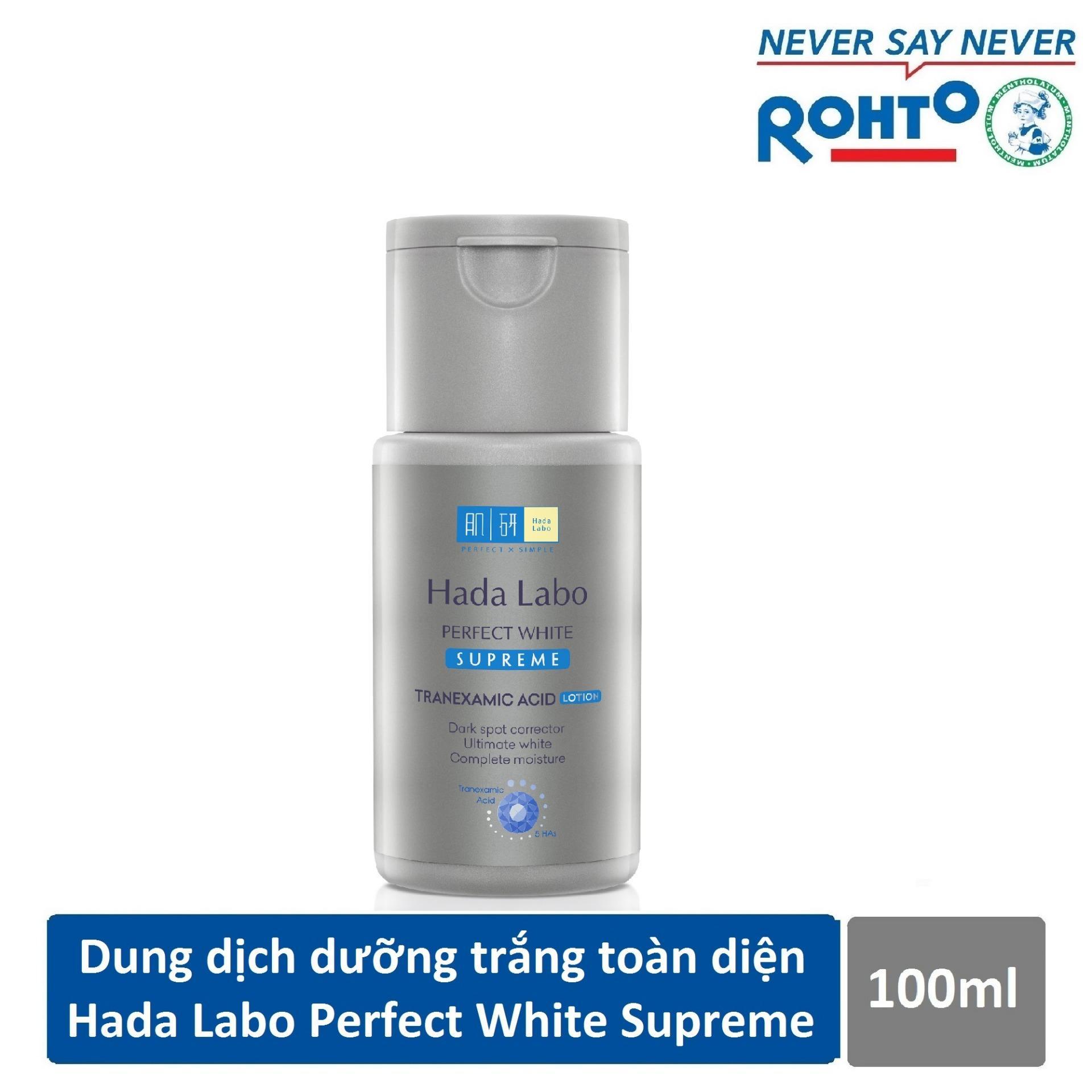 Dung dịch dưỡng trắng toàn diện Hada Labo Perfect White Supreme Lotion 100ml