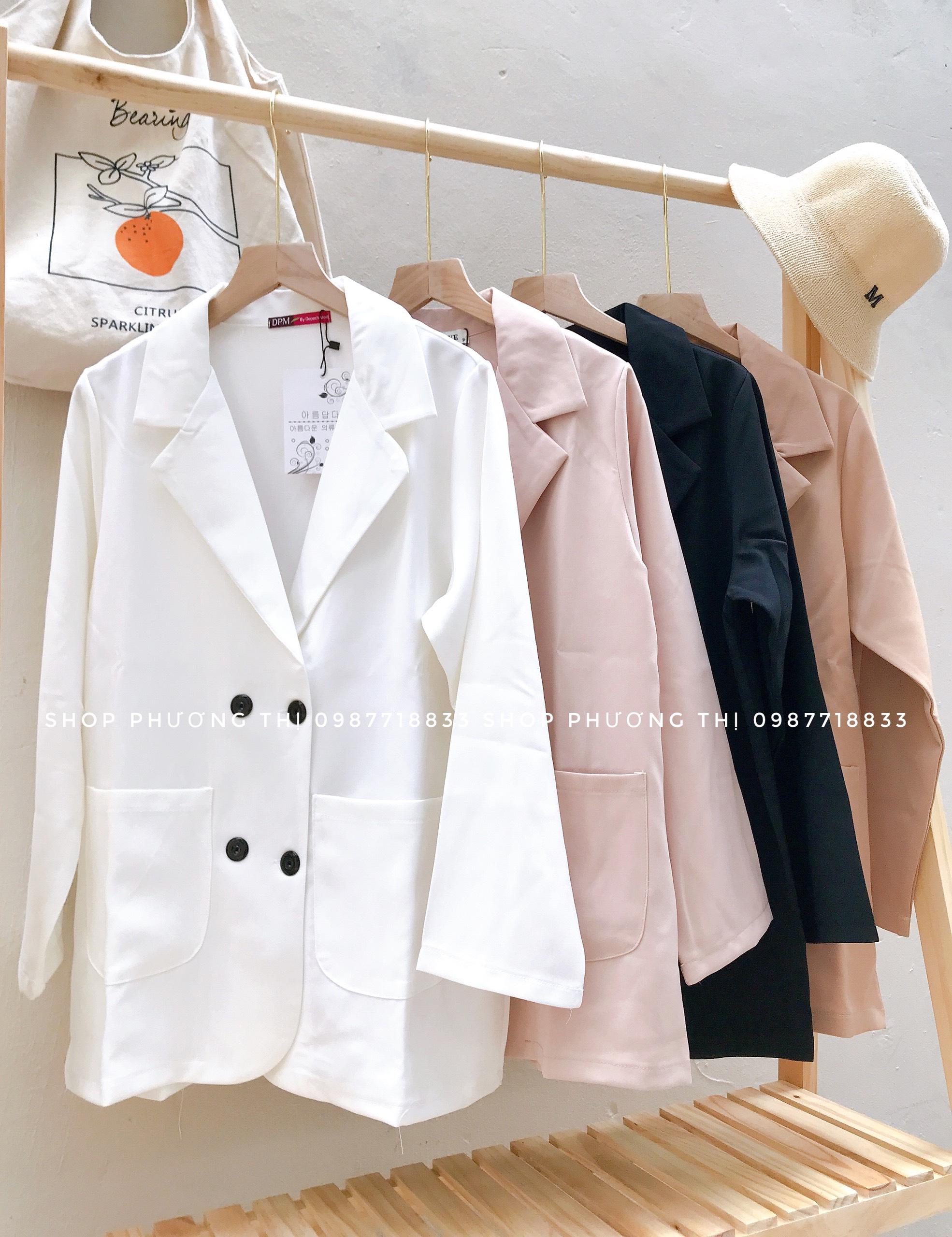 Áo blazer trơn hàn quốc 1 lớp (hình thật shop chụp/sẵn)