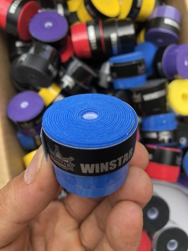 Quấn cán vợt cầu lông Winstar VG002 êm, thấm mồ hôi, có vân bám, nilong bọc ngoài