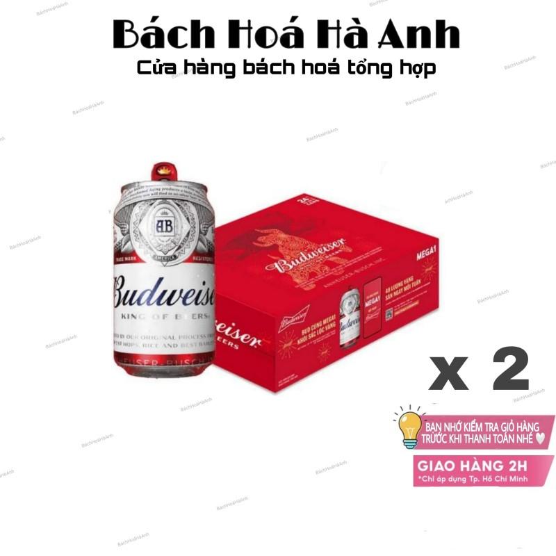 [HCM-2H] Combo 2 Thùng Bia Budweiser - Mẫu Messi 330ml 24 lon
