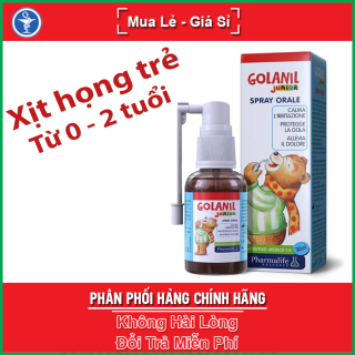 Xịt Họng GOLANIL JUNIOR SPRAY ORALE - Giúp bảo vệ cổ họng, làm giảm các triệu chứng khô, nóng rát họng thumbnail