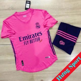 Áo Bóng Đá CLB Real Madrid (Hồng) - Mẫu mới 2021 - Thun Thái Cao Cấp - Co Giãn 4 Chiều thumbnail