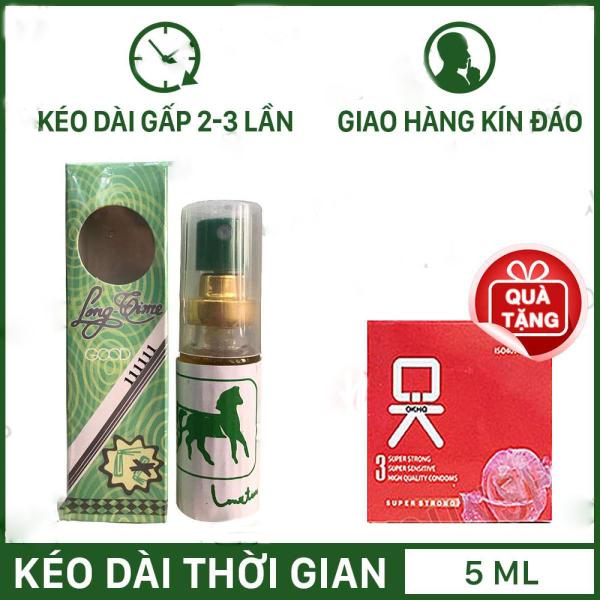 Chai Longtime + tặng 1 bao cao su không mùi ( hộp 3 chiếc )