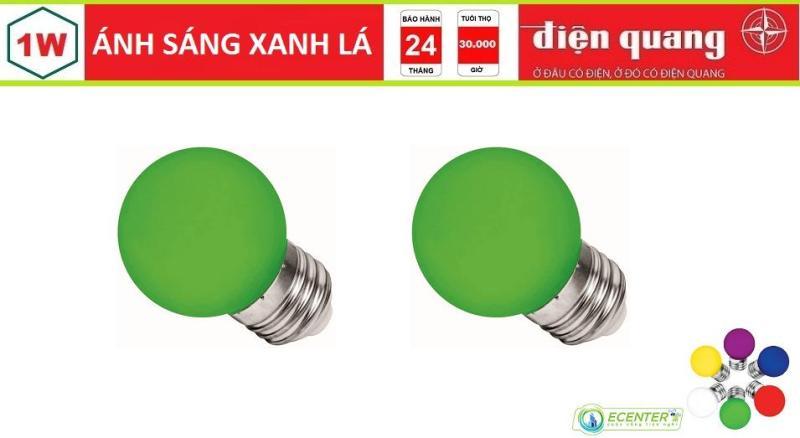 ( BỘ 2 ) BÓNG LED BULB 1W ĐIỆN QUANG LEDBU14G45 01/01765/01727 E27