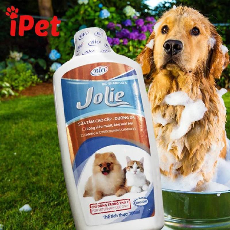Sữa Tăm Mượt Lông Khử Mùi Cho Thú Cưng Bio Jolie 200ml (chai)- iPet Shop