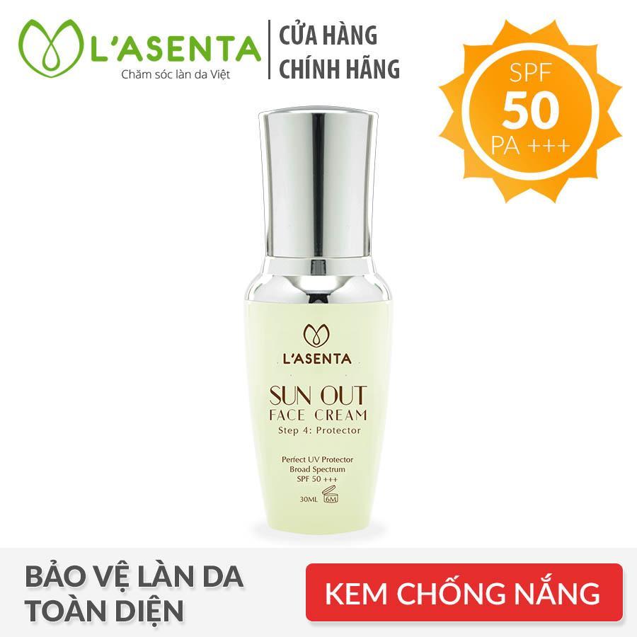 Sữa chống nắng Lasenta Sun Out Face SPF50 PA+++ 30ml cao cấp
