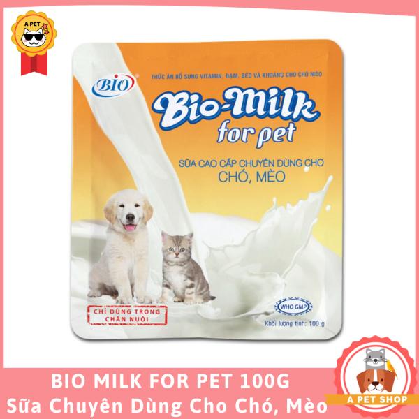 BIO MILK FOR PET Sữa dinh dưỡng cho Chó, Mèo 100gram - A Pet Shop