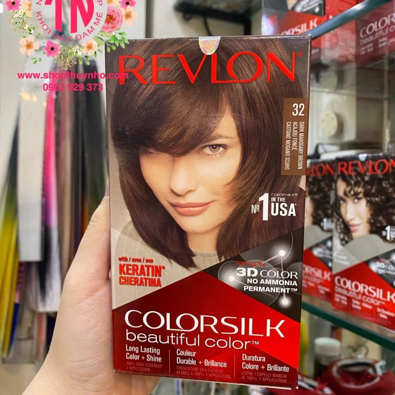 Thuốc nhuộm tóc Revlon ColorSilk số 32 - Nâu gỗ sẫm cao cấp