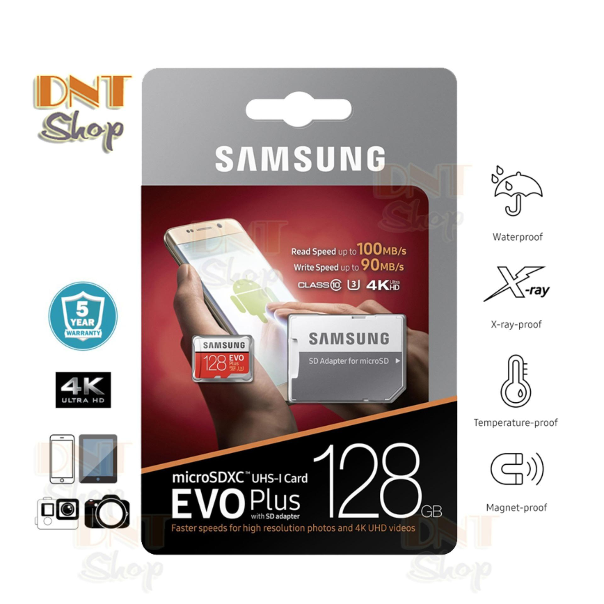 Mã Giảm Giá tại Lazada cho Thẻ Nhớ MicroSDXC Samsung EVO Plus 128GB U3 4K - W90MB-R100MB With Adapter