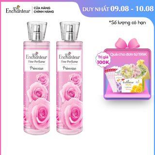 Combo 2 Nước hoa toàn thân cao cấp Enchanteur hương Princess 100ml chai thumbnail