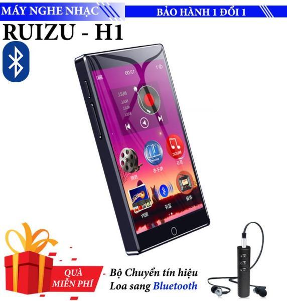 Máy nghe nhạc Mp3/Mp4 Ruizu H1 8GB Màn Hình full Cảm ứng Bluetooth 5.0 Máy Nghe Nhạc Kỹ Thuật Số Di Động Máy Thu Radio FM Ghi Âm Với Tai Nghe Gắn Mic - Tặng thiết bị Chuyển Loa có dây, tai nghe có dây thành Bluetooth