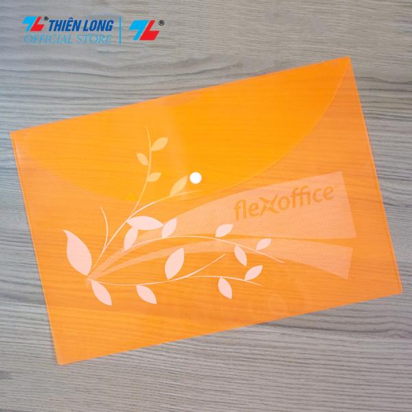 Combo 10 Bìa nút trong suốt nhiều màu F4 Thiên Long Flexoffice FO-CBF08