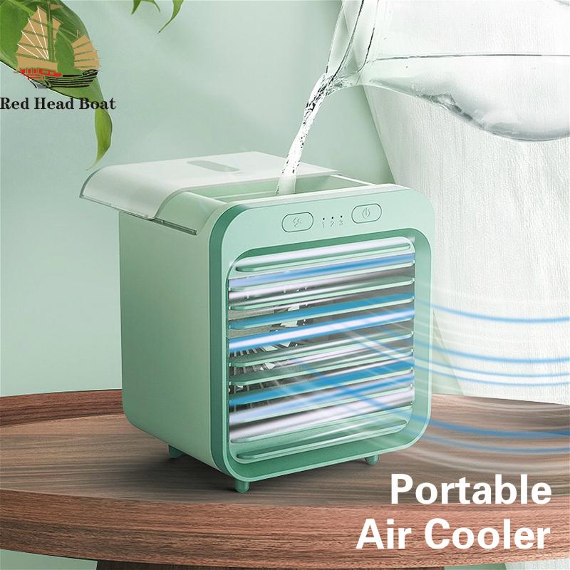 [Bảo hành] Quạt điều hòa không khí làm mát 2 trong 1Mini Quạt điều hòa có gió điều chỉnh 3 cấp và sương mù công suất nước lớn với sạc USB để sử dụng ngoài trời, gia đình, bán lẻ và văn phòng