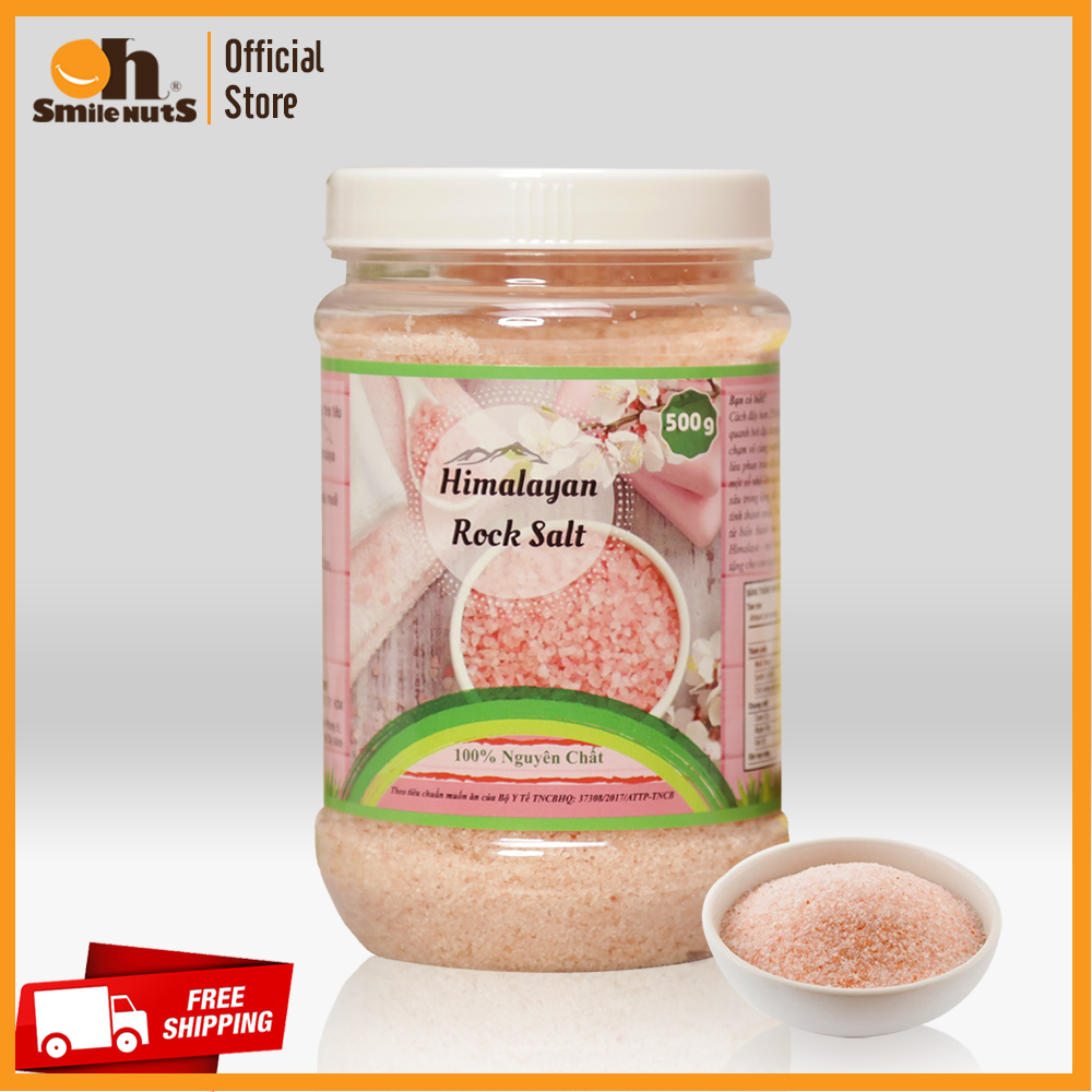 Muối hồng Himalaya (dạng nhuyễn) hộp 500g - 100% nguyên chất dùng trong chế biến và làm đẹp, giải độc, thanh lọc cơ thể, giảm stress, hỗ trợ tiêu hóa