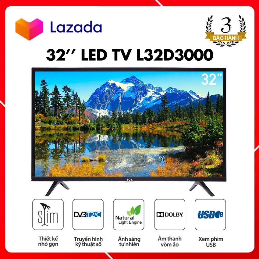 Tivi Led TCL 32 inch HD - Model L32D3000 (Đen) Tích Hợp Đầu Thu DVB-T2