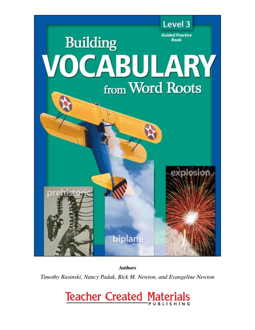 [Sách] Building Vocabulary from Word Roots level 3