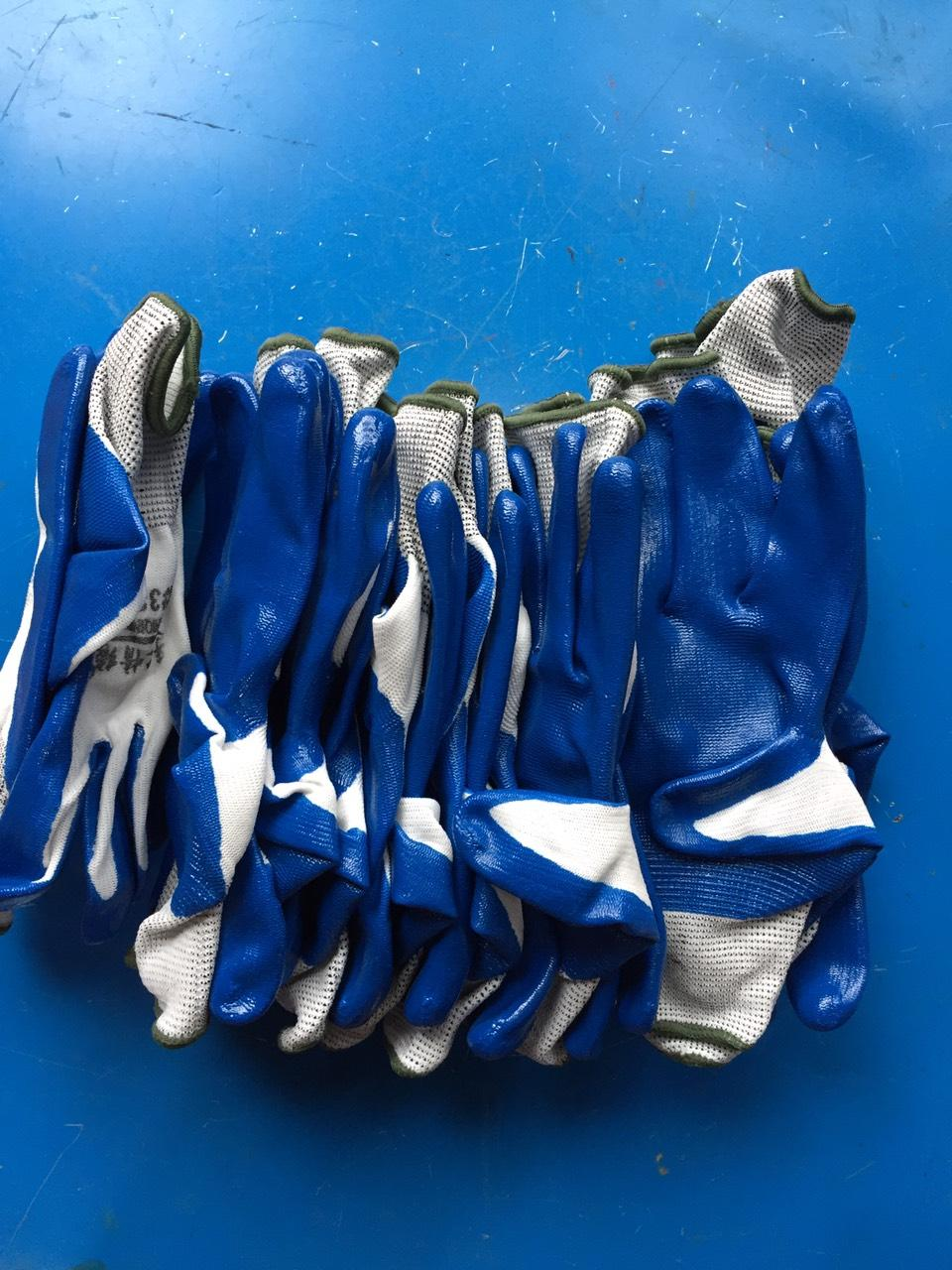 Bộ 10 đôi găng tay lao động bảo vệ 3 lớp, Găng tay 388, găng tay lao động loại dầy nhất