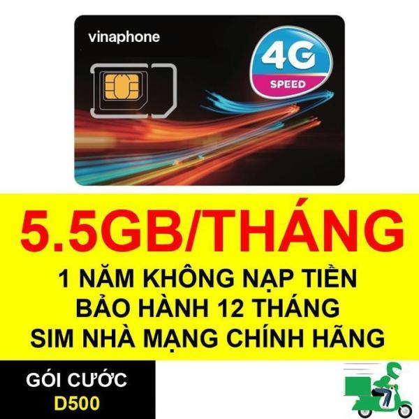 Bán Sim 4G Vina D500 TRỌN GÓI 1 năm -5GB/tháng-sử dụng 12 tháng không cần nạp thẻ. GIÁ TỐT