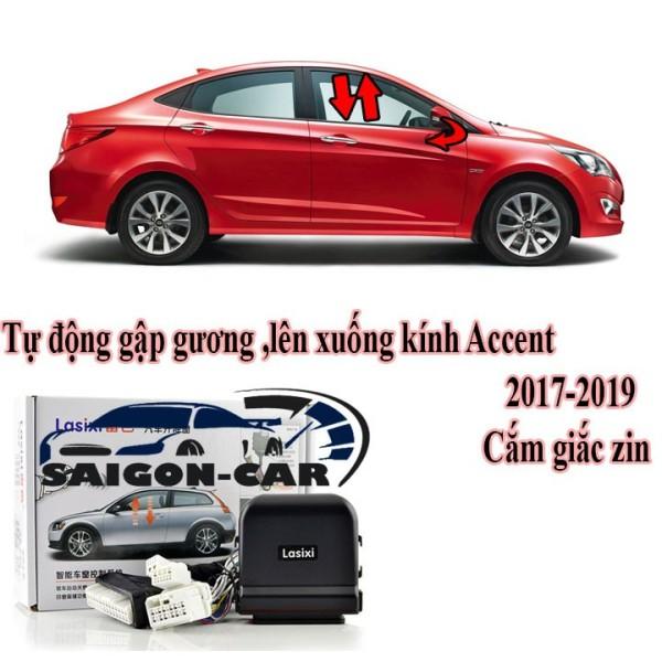 Tự Động Gập Gương Và Lên Xuống Kính Xe Hyundai Accent 2018-2019 2020 2021