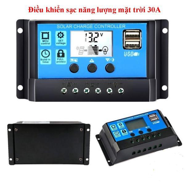 Bảng giá Điều khiển sạc pin năng lượng mặt trời 12V/24V 30A-360W, sạc năng lượng mặt trời