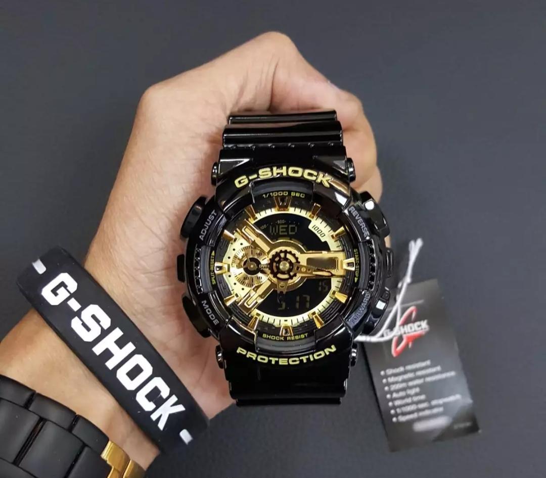 Đồng hồ thể thao nam G Shock - GA110 55mm điện tử chống nước đa năng (Màu Vàng) bán chạy