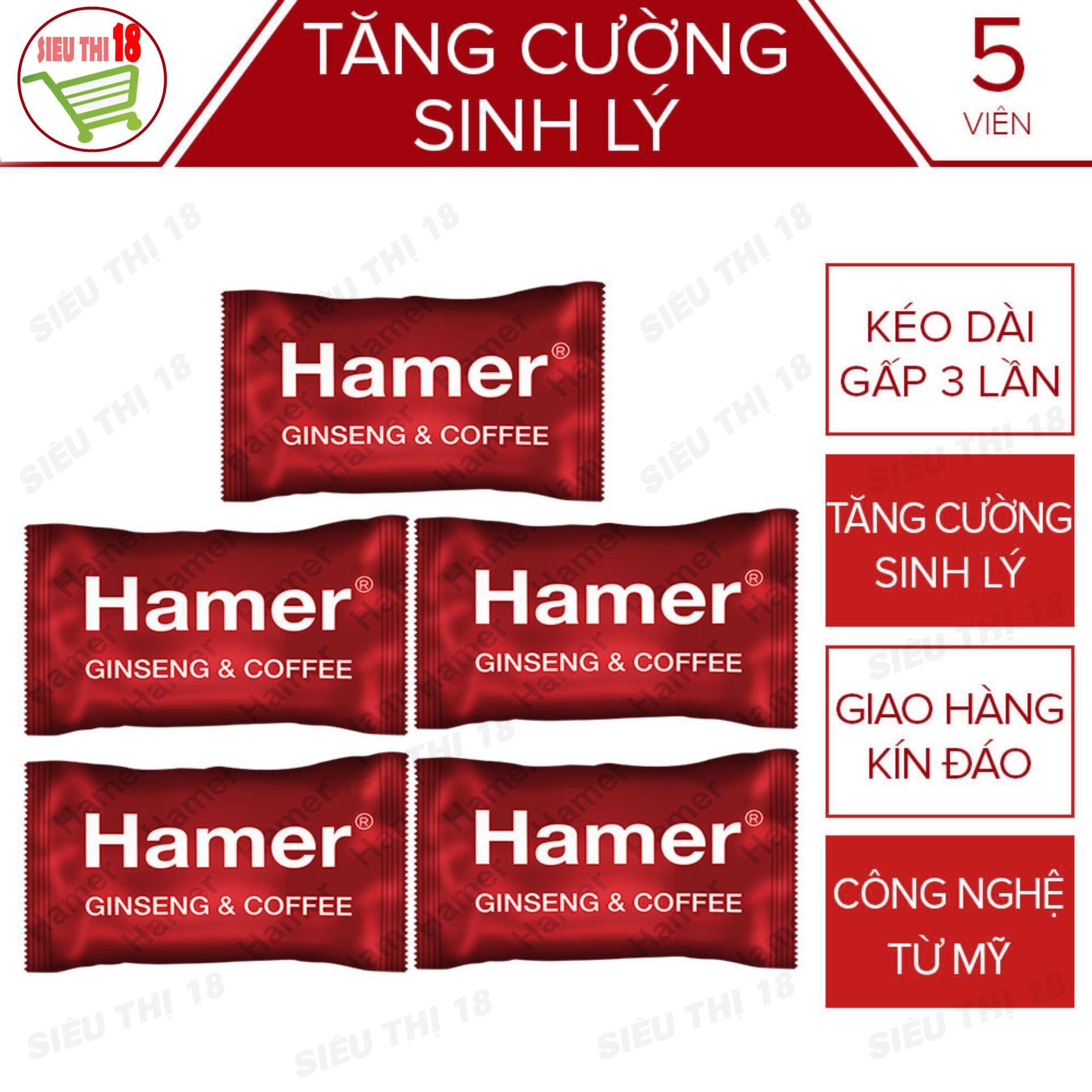 Bộ 5 Kẹo Nhân Sâm Malaysia Hamer - Kéo Dài Thời Gian Cải Thiện Sức Khỏe Nam Giới Tăng Ham Muốn - 5 Viên - sieuthi18 cao cấp