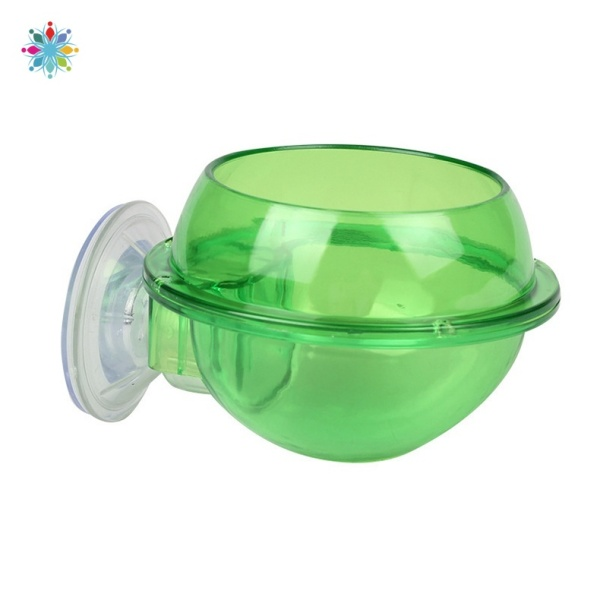 Suction Cup Reptile Feeder Reptile Water Bowl Worm Dish Gecko Feeder Chameleon Bowl Reptile Ledge Accessories Supplies CRTWO