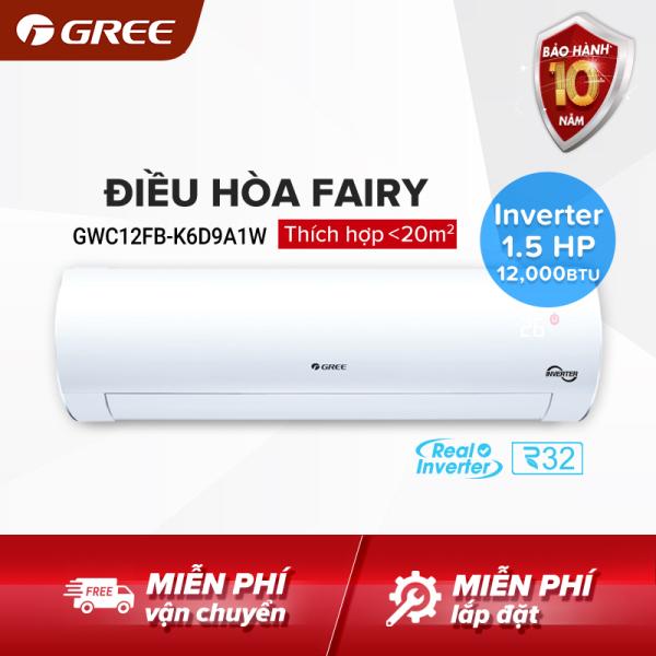 Điều hòa GREE- công nghệ Real Inverter - 1.5 HP (12,000 BTU) - FAIRY GWC12FB-K6D9A1W (Trắng) - Hàng phân phối chính hãng