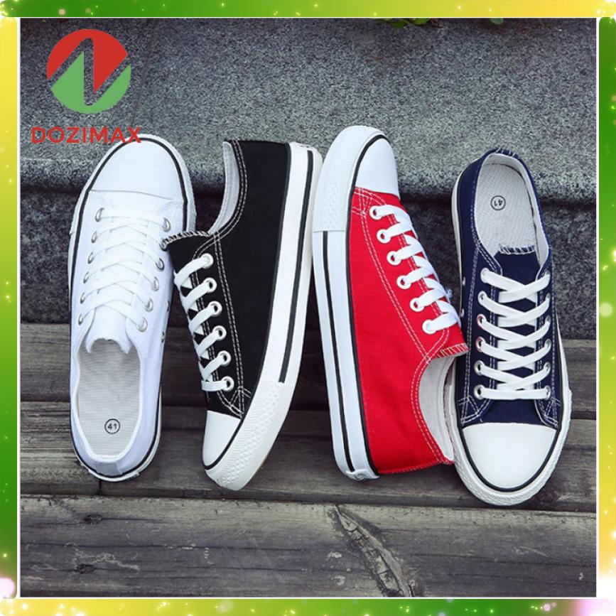 Giày thể thao nam nữ Dozimax CV01 chất liệu vải, êm và dễ làm sạch, đế cao su tổng hợp nên dẻo và rất êm chân giá rẻ