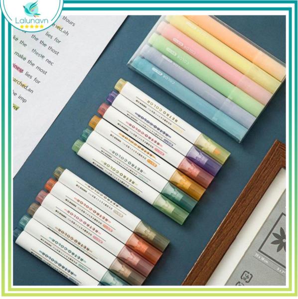 Mua Bộ bút dạ quang 6 màu xinh xắn tiện dụng, bút nhớ ,bút highlight cho học sinh