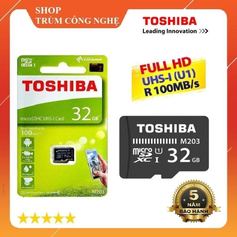 Thẻ nhớ MicroSD Toshiba M203 32GB Class10 100MB/s - Dành cho camera và điện thoại (Đen)