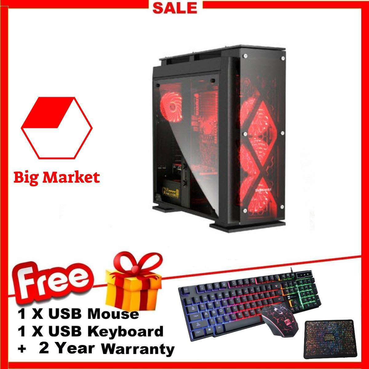 Thùng Cày Game T5 VIP (Pentium G2030, R 8GB, SSD 500GB, Card VGA RờiGTX1060TI 6GB) BMK GamingE + Bộ Quà Tặng Chất