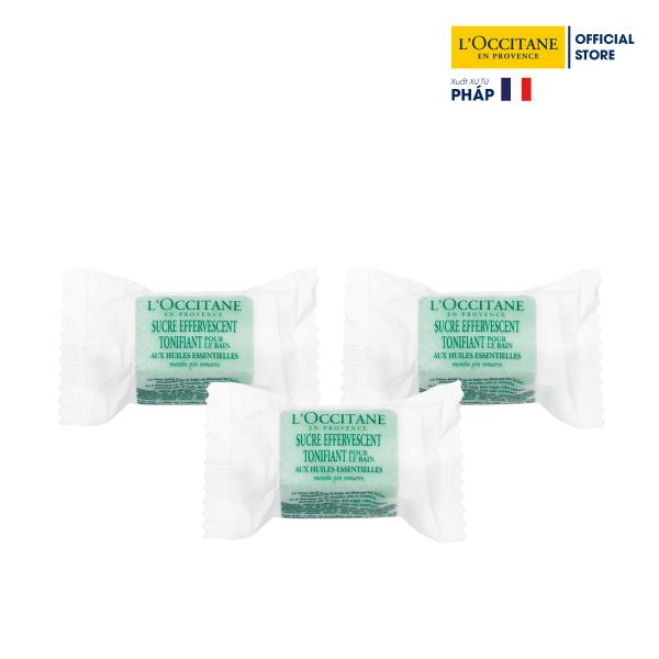 3 Viên Xủi Bọt Tắm Bồn Chiết Xuất Bạc Hà, Thông & Hương Thảo 33gr LOccitane (33gx3) giá rẻ
