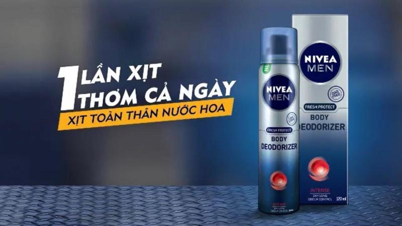 (TH) Combo 5 chai xịt khử mùi nivea men 120ml