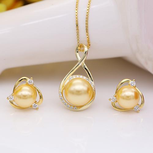 Bộ Trang Sức Ngọc Trai Mạ Vàng 18k - Bộ Trang Sức Nữ Cao Cấp  BV-2201 Bảo Ngọc Jewelry