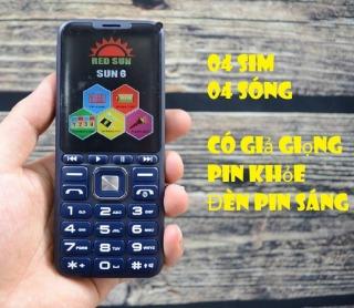 Điện thoại 4 sim red sun 6 thay đổi giọng nói pin khủng giá rẻ thumbnail