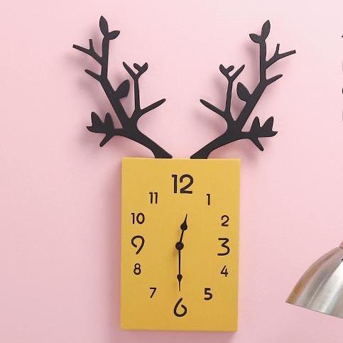 Đồng hồ Treo tường sừng hươu - 5 màu - Đồng hồ Decor DH062 bán chạy