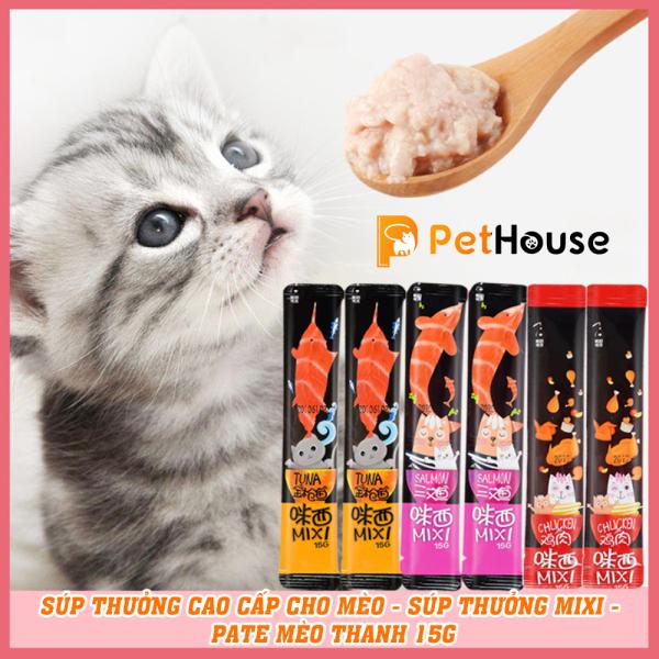 Súp thưởng cao cấp cho mèo - Súp thưởng Mixi - pate mèo thanh 15g