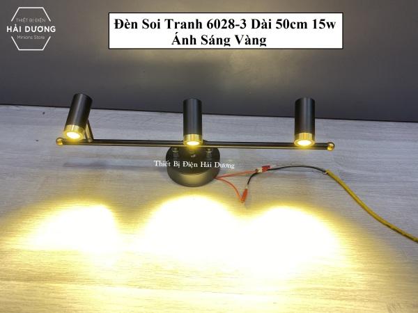 Đèn soi tranh - Đèn rọi gương Led 3 Đèn chiếu sáng 6028-315w 3268-3 9w Ánh Sáng Vàng - Điều chỉnh được góc chiếu