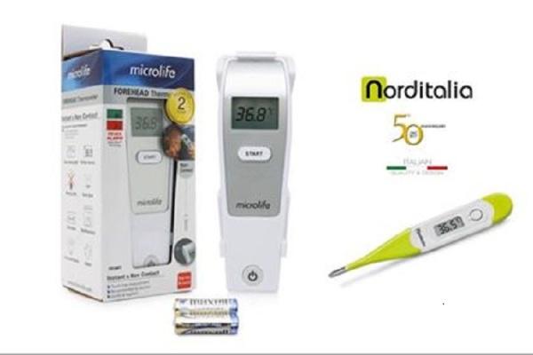 Nhiệt kế hồng ngoại đo trán Microlife FR1MF1 tặng kèm Nhiệt kế dạng bút đầu mềm TD82 NordItalia bán chạy