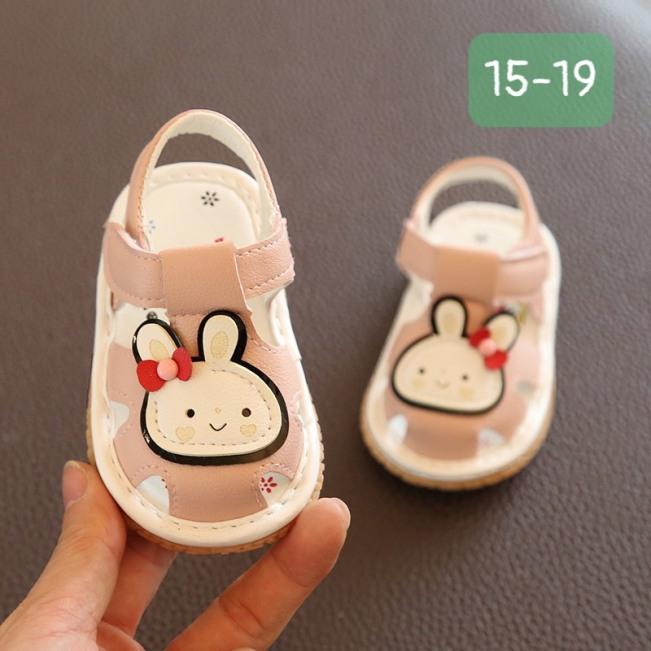 Giày tập đi cho bé gái hình thỏ Nơ giá rẻ
