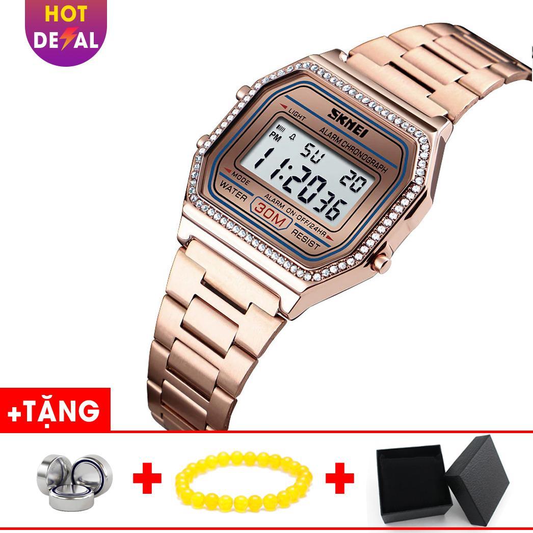 Đồng Hồ Nữ SKMEI điện tử mặt vuông cá tính BW054-Boss Watches bán chạy