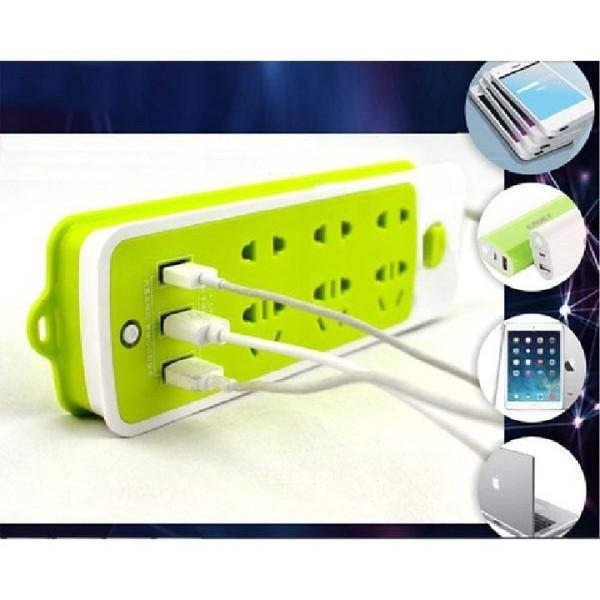 Bảng giá Ổ CẮM ĐIỆN 6 LỖ SẠC NHANH KÈM 3 LỖ SẠC USB- NẠP ĐIỆN CẤP TỐC CHO MỌI THIẾT BỊ, CHỐNG GIẬT, TIẾT KIỆM ĐIỆN - Ổ CẤM ĐIỆN XANH LÁ ĐA NĂNG